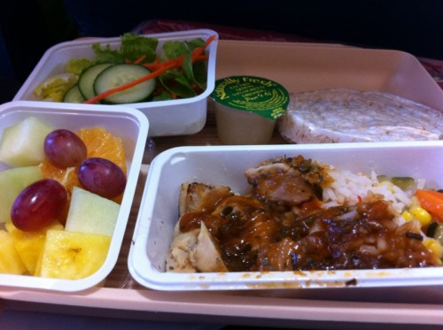 The worst meal of my trip ... plane food.