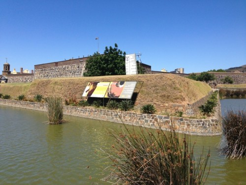 The moat outside the Castle of Good Hope