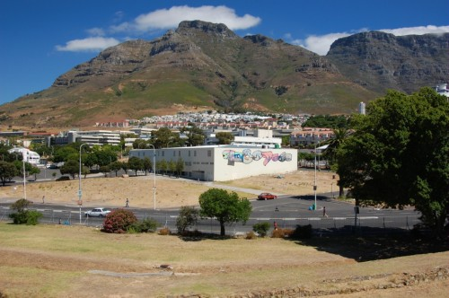View of Cape Town from the castle