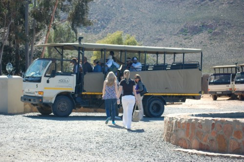 Safari bus at the Aquila Safari