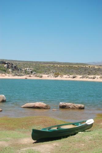 The lake at Koro lodge